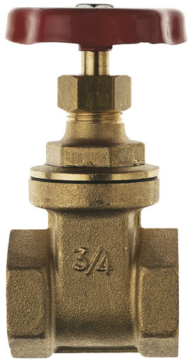 "3/8"" BSP FEMALE HEAVY BRASS GATE VALVE - GV157-38"