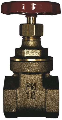 "1"" BSP FEMALE GUNMETAL BRONZE GATE VALVE - GV160-1"
