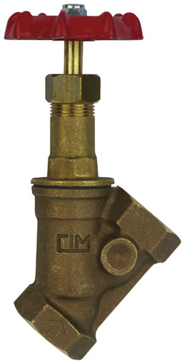 "1"" BSP FEMALE BRONZE OBLIQUE STOP VALVE - SV73-1"