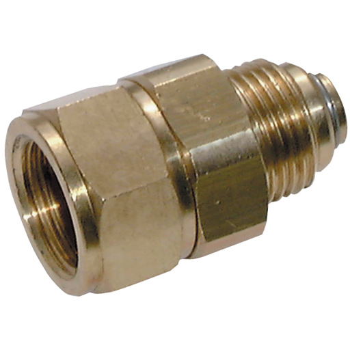 "3/8"" BSP Male X Female Brass Swivel Coupler Compact - 21-049"