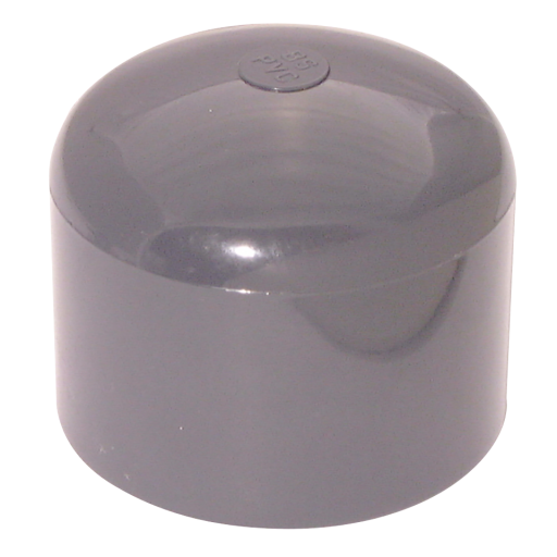 "4"" ID Solvent Blankingcap ABS Light Grey - CA73-4-ABS"