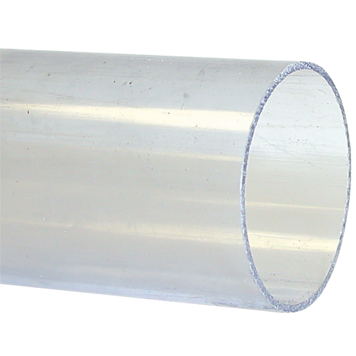 75mm OD X 1.8mm Clear UPVC Pipe 5m - CUPVC/TUBE-7518
