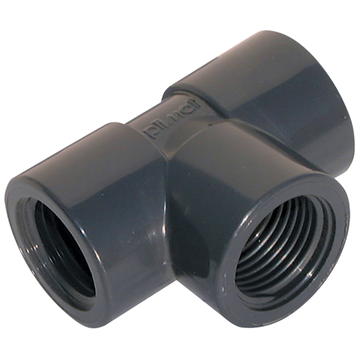 "1/2"" BSP Female Equal Tee PVC - PVT12"