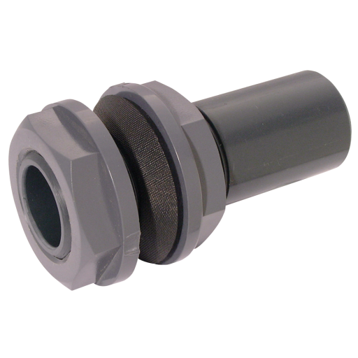 "2"" ID UPVC Equal Tank Connector Dark Grey - TC93-2-UPVC"
