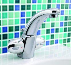 Fino 2 handle basin monoblock mixer, swivel spout - FINO.4 - DISCONTINUED
