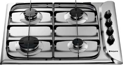 Hotpoint G640 Style 60cm Gas Hob in S/Steel - DISCONTINUED