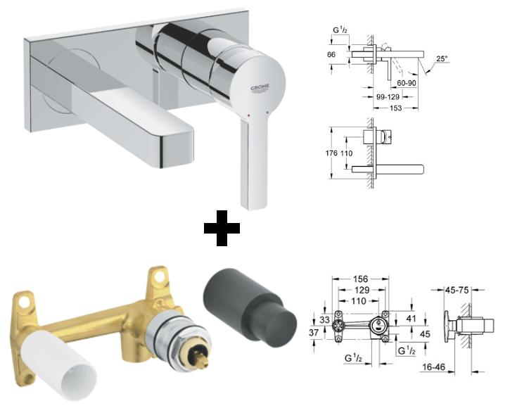 Grohe Lineare Basin Mixer 28mm Cartridge 32109