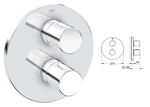 Grohe - Grohtherm G3000 Thermostatic Shower Trim - 19 467 000 - 19467