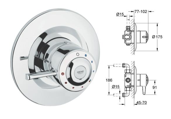 Grohe - Avensys Shower Single Control DO8 Shower Mixer 1/2\