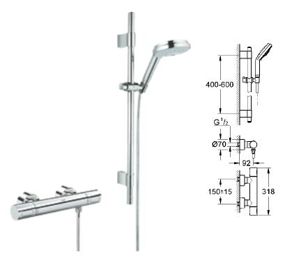 Grohe - Grohmaster G3000 Cosmopolitan Thermostatic Rainshower Set EV - 34 275 000 - 34275