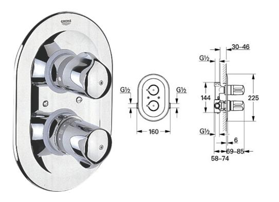 grohe automatic 2000 special shower mixer 1 2 34932000 34932. Black Bedroom Furniture Sets. Home Design Ideas