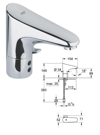 Grohe Atrio Two Handle Sink Mixer 31000000 31000