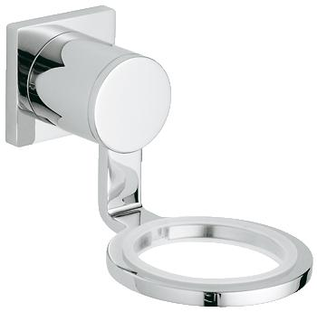 Grohe - Allure - Glass/Soap Wall Dish Holder Chrome - 40278000 - 40278