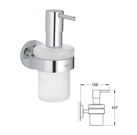 Grohe - Essentials - Soap Dispenser Wall Chrome Plated - 40373000 - 40373