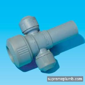 Hep2O® Two Port Manifold - Closed Spigot - 22 x 10mm - 243472