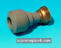 "Hep2O® Straight Tap Connector - 15mm x 1/2"" - 243161 - DISCONTINUED"