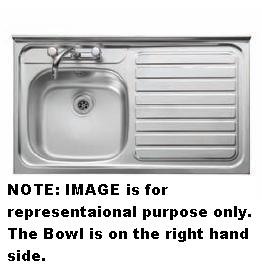 Leisure Sink Contarct 1.0B RHD Square Front Sink - G66554