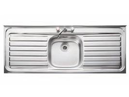 Leisure Sink Contract Sit On 1.0B DD Kitchen Sink - G66559 - DISCONTINUED