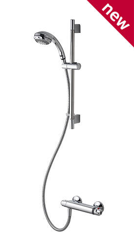Aqualisa Midas 100 Exposed System Bar Shower
