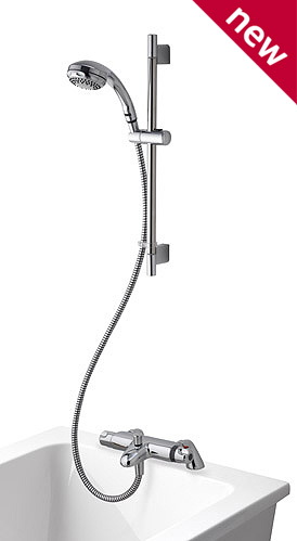 Aqualisa Midas 100 Exposed Bath Shower Mixer with Bracket