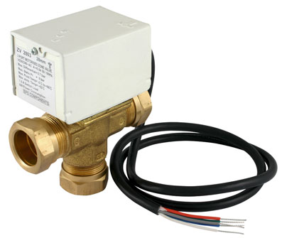 Motorised 3 Port Zone Valve 22mm - MP2203 - DISCONTINUED