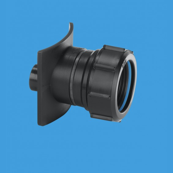 "3½"" (3.1/2"") / 90mm x 1¼"" (1.1/4"") Pipe Mechanical Cast Iron Soil Pipe Boss Connector (Black) - BOSS90CAST-BL"