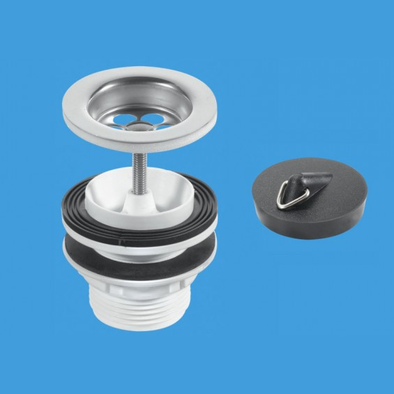 "1¼"" (1.1/4"") Centre Pin Basin Waste to suit Basin Bracket with Plug - BSW11P"