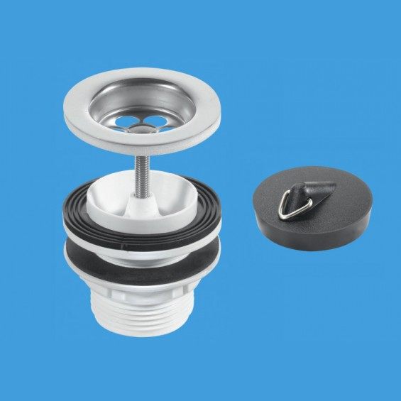 "1¼"" (1.1/4"") Centre Pin Basin Waste to suit Basin Bracket with Plug CP Chain and Stay  - BSW11PC"
