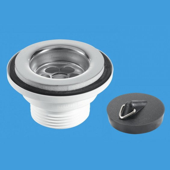 "1½"" (1.1/2"") Centre Pin Basin Waste with Plug - BSW2P"