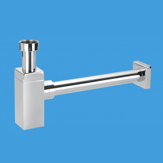 CP Brass Basin Kit  with Square Bottle Trap - CA32SQUK-CB