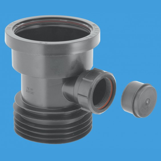 Drain Connector with Boss - Black - DC1-BL-BO