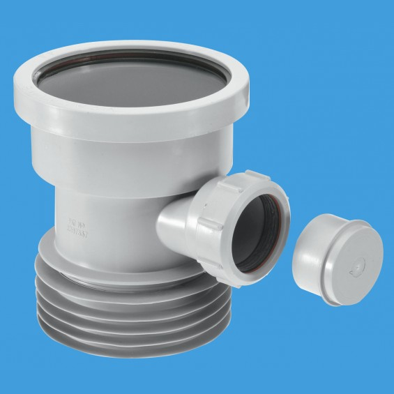 Drain Connector with Boss - Grey - DC1-GR-BO