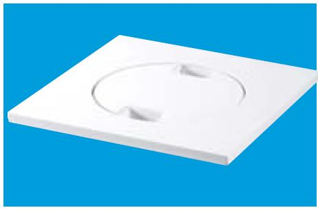 150mm Square White ABS Tile and Cover - MDTOPC-WH