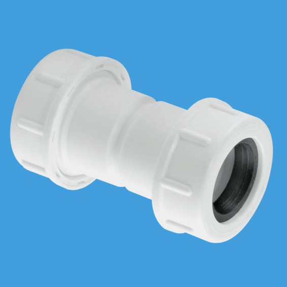 "¾"" (3/4"") Flexible to Rigid Overflow Pipe Straight Connector - R1M-CO"