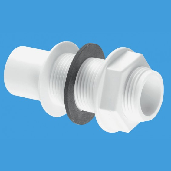 "¾"" (3/4"") Pushfit Straight Overflow Tank Connector - R4"