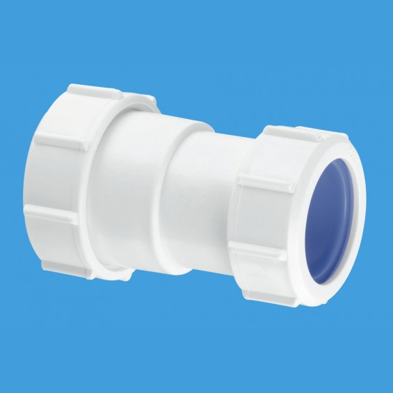 "1¼"" (1.1/4"") Multifit Straight Connector x 32mm European pipe size - S28L-ISO"