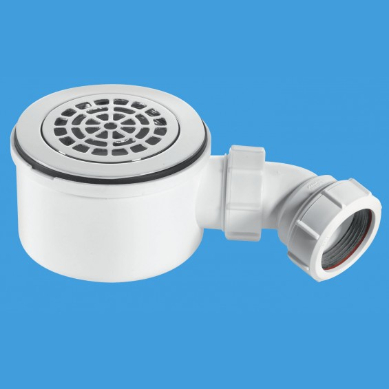 "1½"" (1.1/2"") 90mm Shower Trap (Improved) - Petal - ST90CPB-P-70"