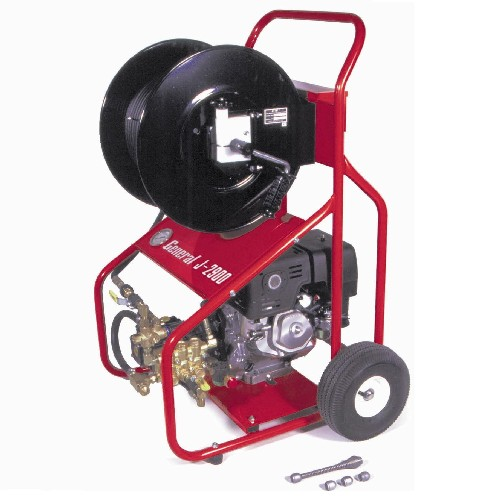 GENERAL WIRE SPRING CE 11HP PETROL DRAIN JETTING MACHINE Includes CR-300 - J-2900-C - COLLECTION ONLY