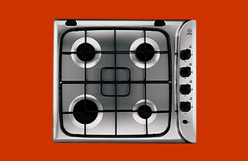 Indesit PI640A Gas Hob in Stainless Steel