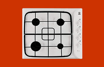 Indesit PI640A Gas Hob in White