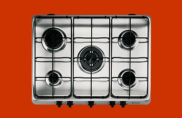 Indesit PI750AST Gas Hob in Stainless Steel