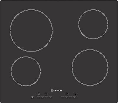 Bosch PKE691E02E 4 zone ceramic hob - DISCONTINUED