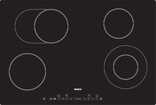 Bosch PKN791E02E Extra wide 4 zone ceramic hob - DISCONTINUED