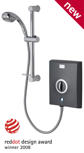 Aqualisa Quartz Electric Shower 8.5kw Graphite/Chrome