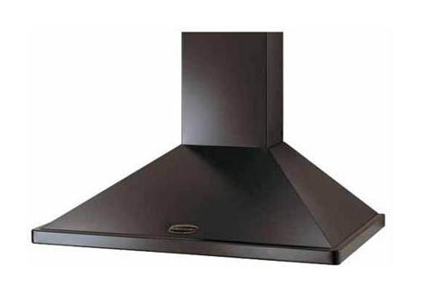 Rangemaster Chimney Hood - Black Brass No Rail 90cm