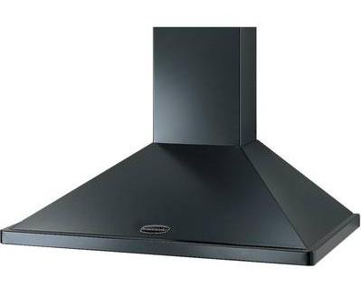 Rangemaster Chimney Hood - Black Chrome No Rail 90cm