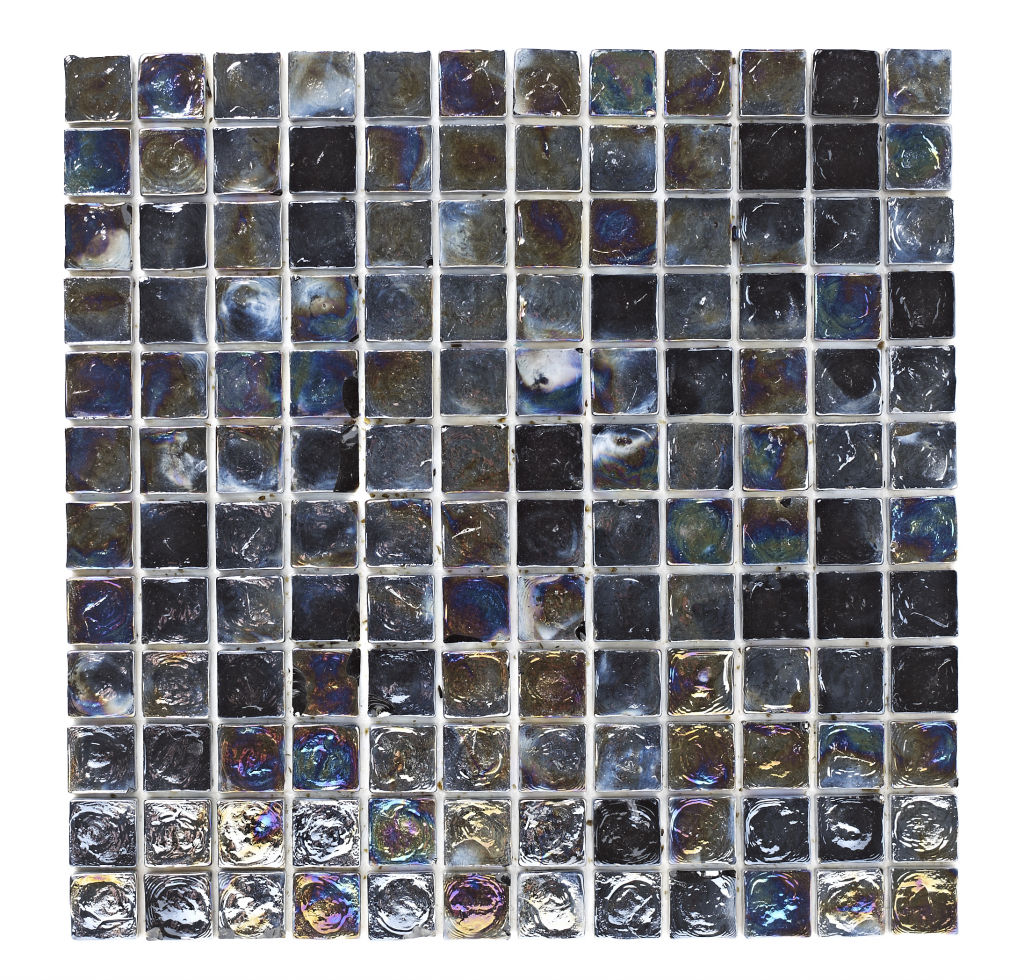 Glass mosaic single sheet 27x30 beige stx 312490 collection only british ceramic tile black hammered glass mosiac 23x23 stx 332270 collection only dailygadgetfo Images