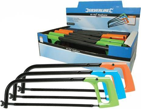 Silverline - DISPLAY BOX OF 12 300MM HI-VIZ HACKSAWS - 196509