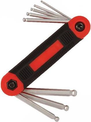 Silverline - 8PCE FOLDING METRIC BALL END HEX KEY SET - 196609