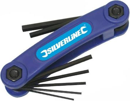 Silverline - 7PCE IMPERIAL JACK KNIFE HEX KEY SET - HK09